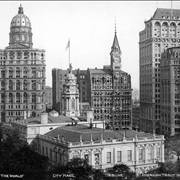 Picture Of Early Skyscrapers In Park Row New York