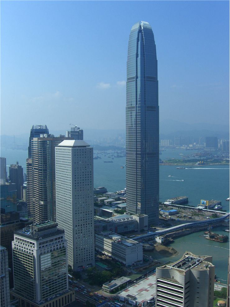 Picture Of Skyscraper Finance Centre In Hong Kong