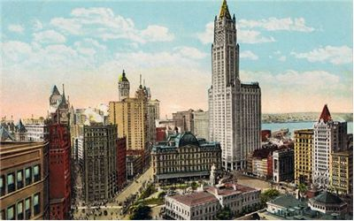 Picture Of The Woolworth Building And City Hall Park New York City 1910s Postcard
